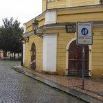Rua do hotel tranquila
