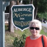 Entrance to the dining area of the Auberge McGowan