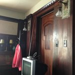 Real wood paneling in the room