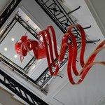 Art installation a nice pop of colour!