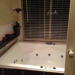 huge spa bath