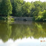 fishing lake on grounds