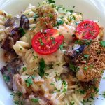 pasta with mushroom and heaps of parm!