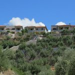 view of hotel from old Kardamyli