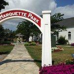Entrance to Marquette Mission Park