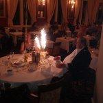 Celebration at dinner