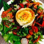 Yummy grilled goats cheese salad