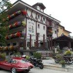 Hotel mit originell bestztem Parkplatz