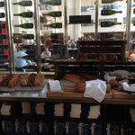 Great breakfast: freshly-baked Danish rye breads.