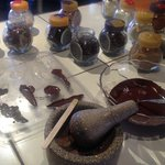 Making our own chocolate truffles