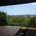 View of salt pans from dining area