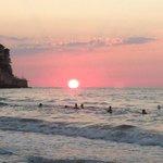 tramonto unico al mondo
