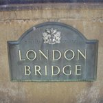 The sign came with the bridge all the way from London