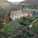 Aerial view of Hethpool house