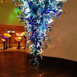 the blue chandelier