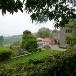 Caer Llan garden and view