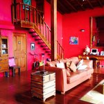 Red living-room upstairs