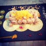 Local fish ceviche - fresh and delicious