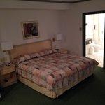 寝室。 とても清潔で快適でした。