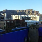 Roof top terrasse at sunrise - Table Mountain