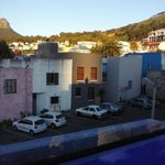 Cape town buildings from the terrasse of La Rose b&b @sunrise