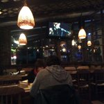 One of the eating areas at Margaritas