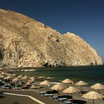 Black beach in perissa