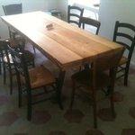 Bello il tavolo sul retro  da kicken and soul !!!