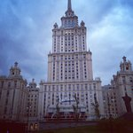 Evening view - corner of Radisson Royal (Hotel Ukraina) Moscow