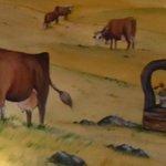 Belle fresque murale dans le restaurant