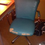 nicely broken-in chair. plush and soft.
