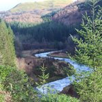 The Ystwyth after it has emerged from its gorge in Hafod