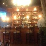 Cozy Speakeasy bar taken from dining room