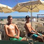 Boys on Malaga Beach