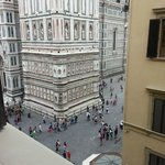 View from our bedroom window of the Duomo in Florence