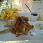 fish and chips de sardines