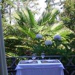 Une petite table de la terrasse :)