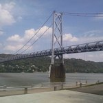 The bridge across the Ohio River to Maysville,Ky
