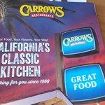 Carrow's Menu Cover