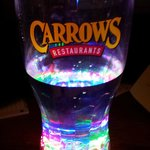One of Carrow's flashy sparkling glasses