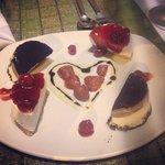 Complimentary anniversary dessert. Thank you LuLu's.