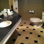 Bathroom with  two entrances