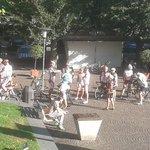Ciclisti a piazzetta Sant'Anselmo