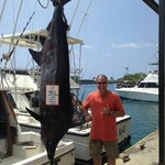 Camelot Sport Fishing with Trophy Blue Marlin and Mark