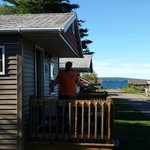 Our Cabin on the left with Lake Superior straight ahead