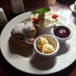 Scone - fresh & nicely presented