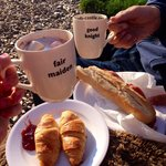 Yummy breakfast delivered to our tent!