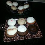Assorted cupcakes from Red Velvet Cupcakery