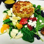 Crab Cake Floribean Salad