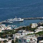 Porto di Capri, dalla mia camera, sul lato nord.